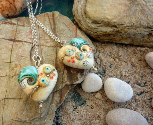 Sand & Sea chubby heart pendant