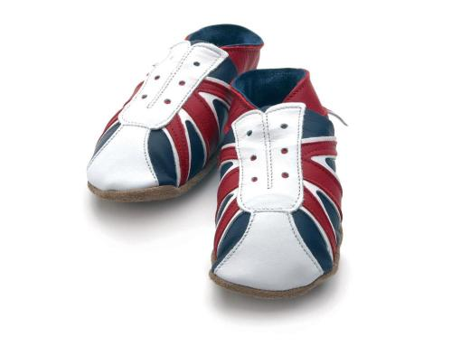 Union Jack on Trainer Navy & Red