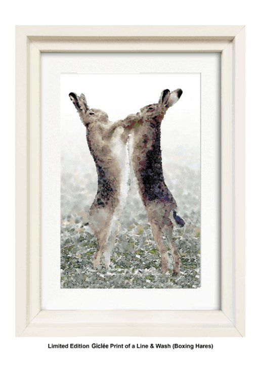 Boxing Hares - By Gerald Bright