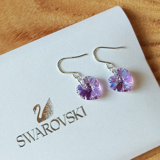 Swarovski & Sterling Silver Earrings