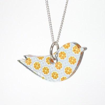 Handmade Acrylic Bird Necklace