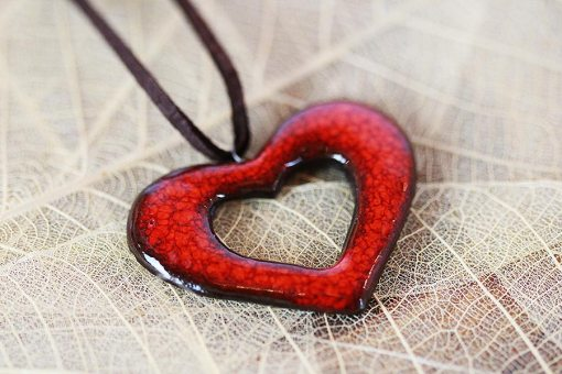 Heart Ceramic Necklace