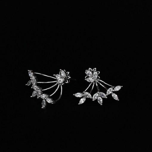 Cubic Zirconia & Sterling Silver Earrings