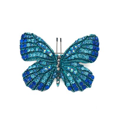 Blue butterfly brooch/pendant