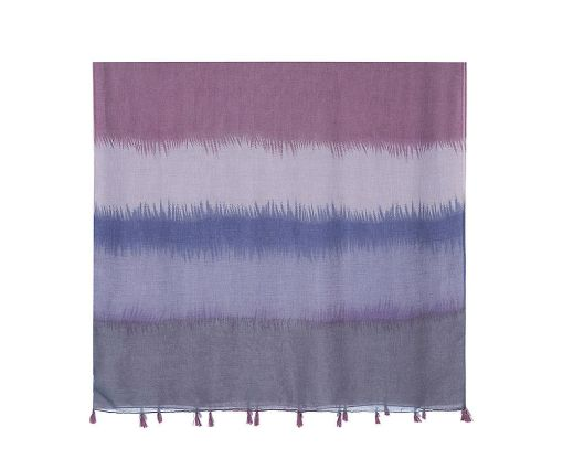 Multi coloured colour block scarf