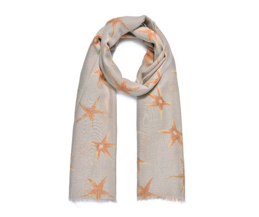 Orange/Beige Scarf