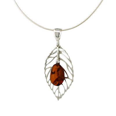 Handmade Sterling Silver Amber Necklace