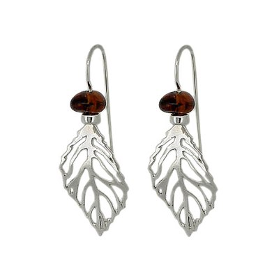 Handmade Sterling Silver Amber Earrings