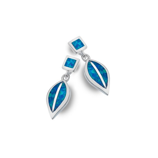 Handmade Sterling Silver Opal Earrings