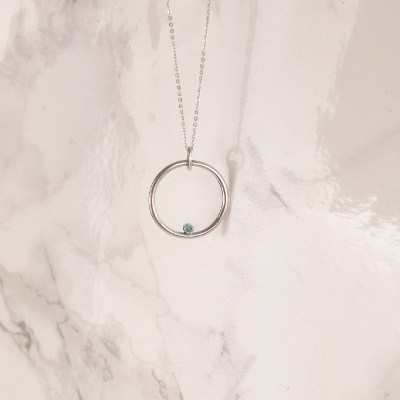 Circle Swarovski Necklace