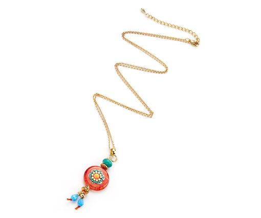 Charm long pendant necklace
