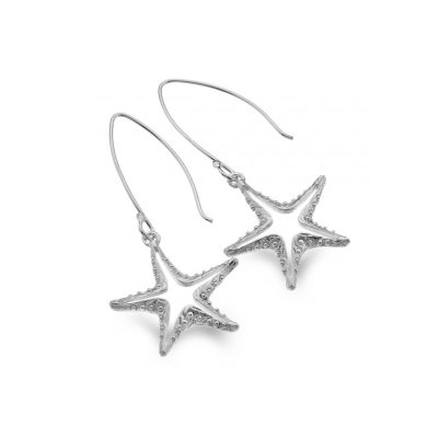 Handmade Sterling Silver Starfish Earrings