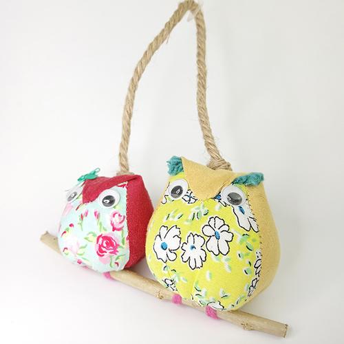handmade fabric owls
