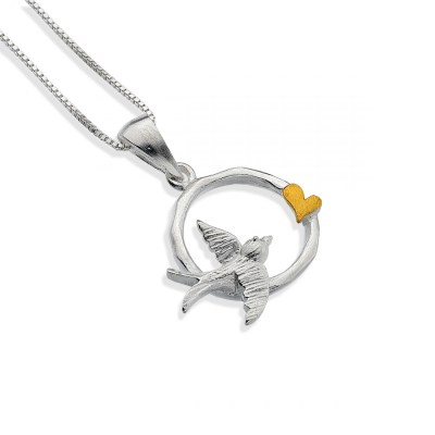Golden Love Swallow Necklace