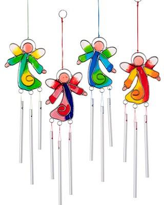 Angel Lightcatcher with Mini Chimes