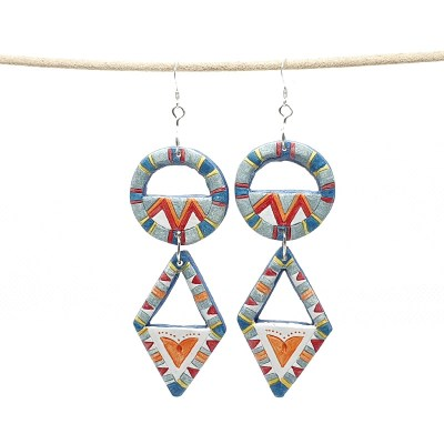 Ceramic Earrings made by Julie Wright