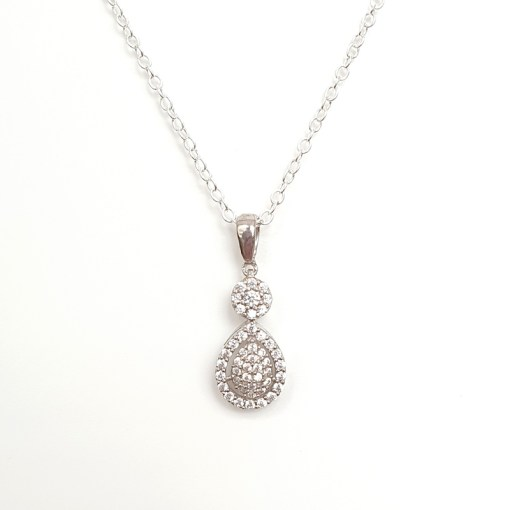 Clear Cubic Zirconia necklace