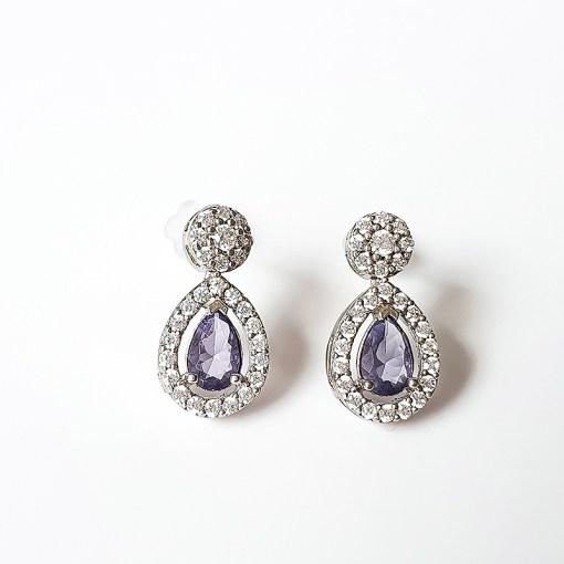 Purple Cubic Zirconia Earrings