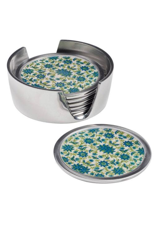 Floral Print set of 6 Coasters