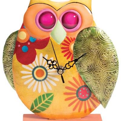 Funky owl clock