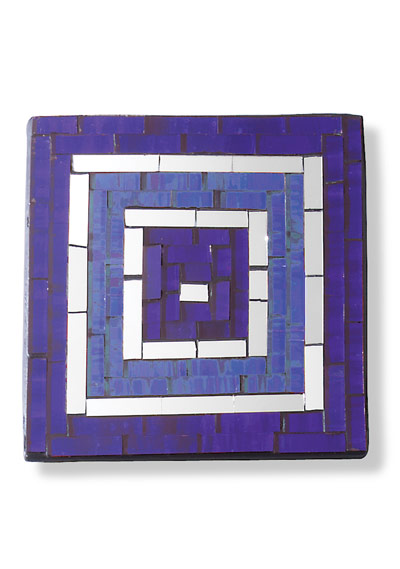 Set of 4 two-tone square mosaic coasters