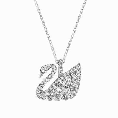 Sterling Silver & Swarovski Swan Necklace