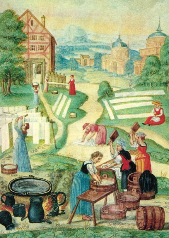 Henry VIII's laundress - doing the business of laundry in Tudor times