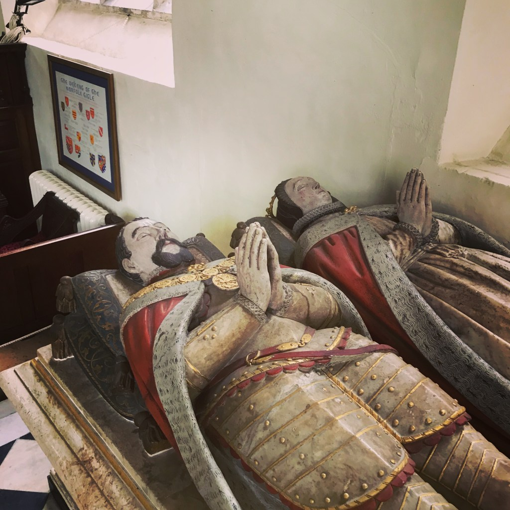 Effigies of Henry Howard, Earl of Surrey and Frances de Vere, his wife