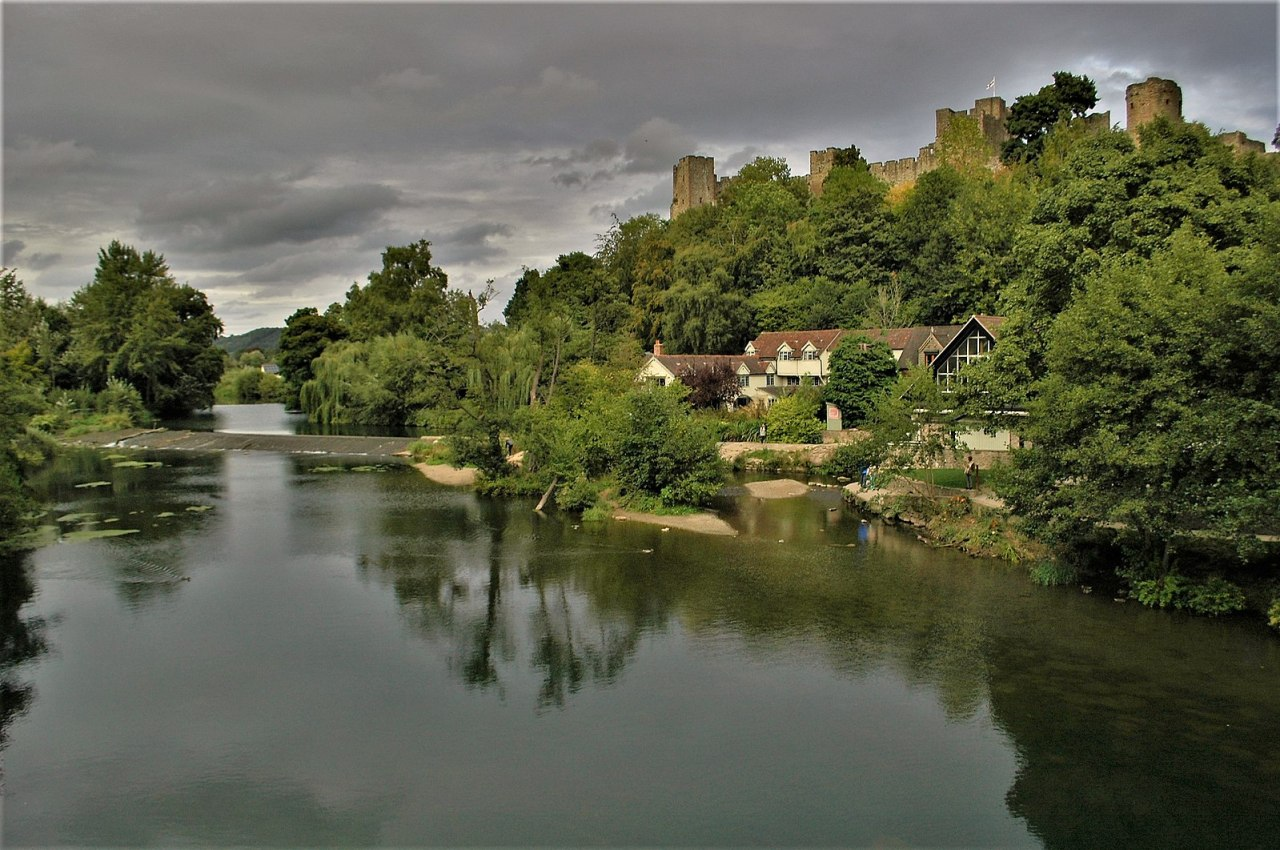 Ludlow Castle from the River Team