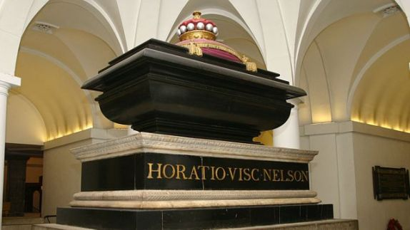 Nelson's tomb; part of the lost tomb of Henry VIII