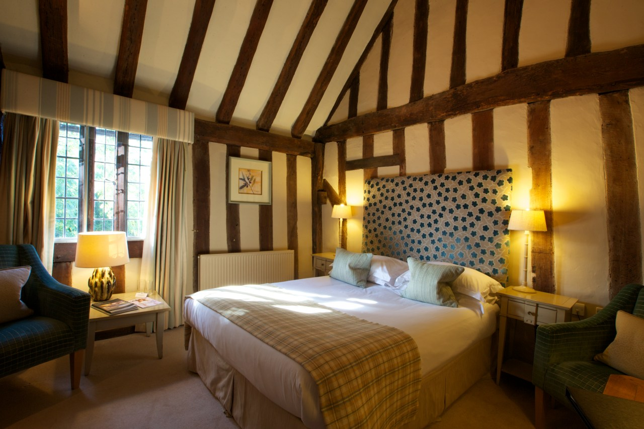 One of the bedrooms at The Swan at Lavenham