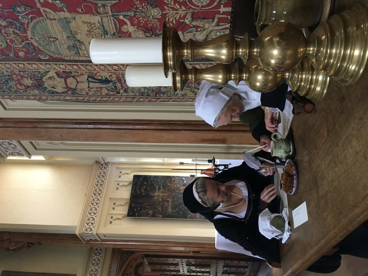 Tudor lady of the house learns to write at Kentwell