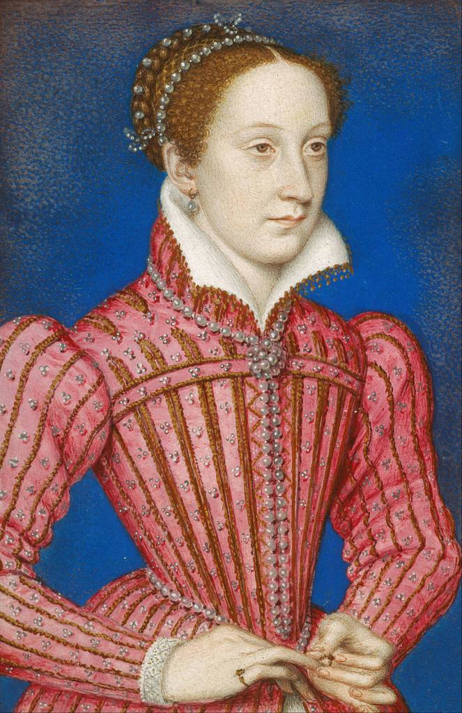 Early portrait of Mary, Queen of Scots c.1559, by François Clouet