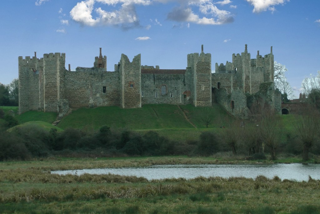 Framlingham Castle: view from across the mere.