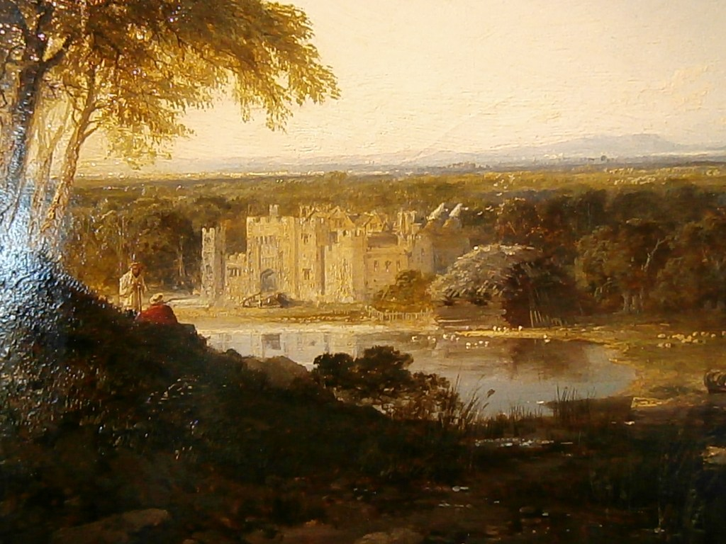 Painting of Hever Castle in the mid eighteenth century