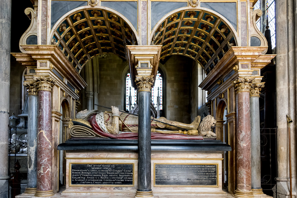 The tomb of William Cecil, Lord Burghley.