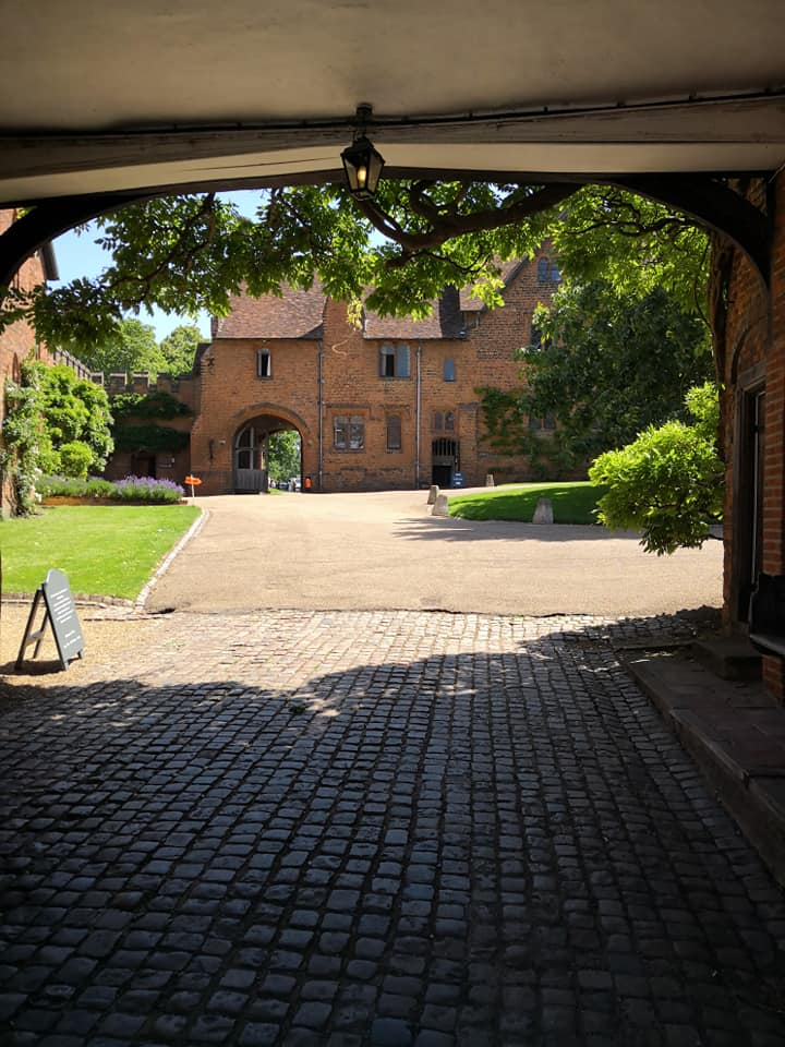 Underneath the gatehouse, looking into the courtyard of the Old Palace of Hatfield