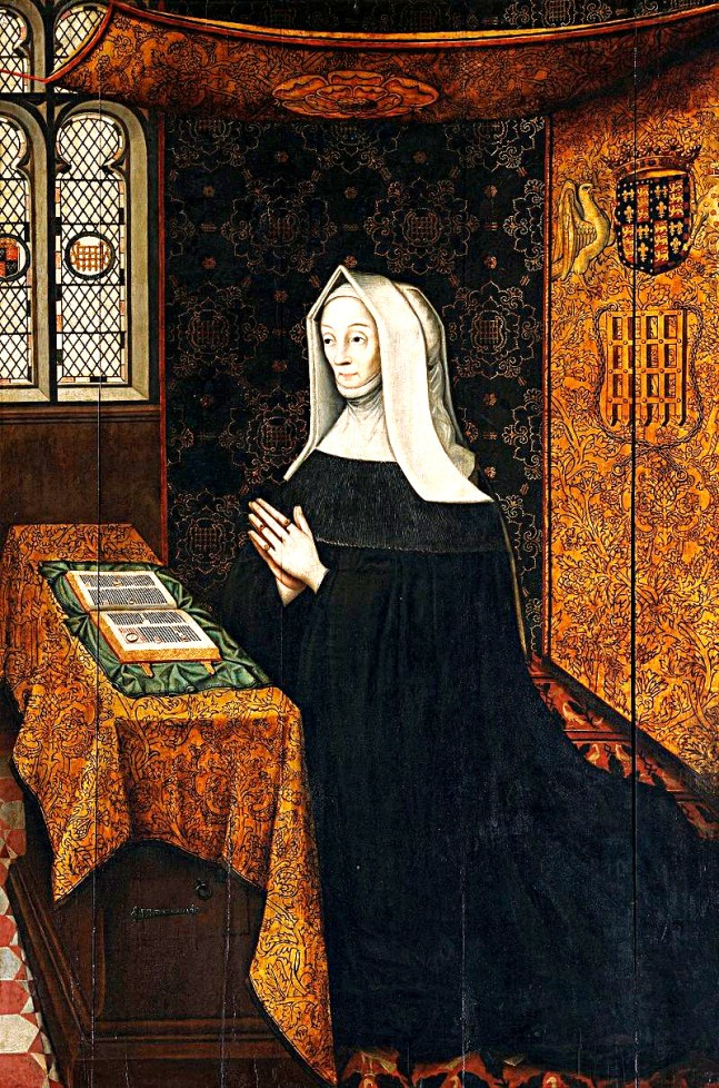 Margaret Beaufort at prayer, most notable owner of the Palace of Collyweston