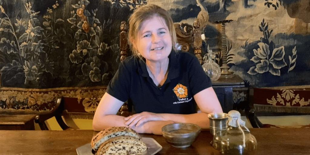 Brigitte Webster with her homemade Spiced Tudor loaf