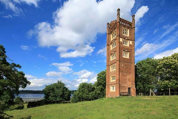 Freston Tower, arguably built to coincide with Elizabeth I's visit to Ipswich in August 1579.