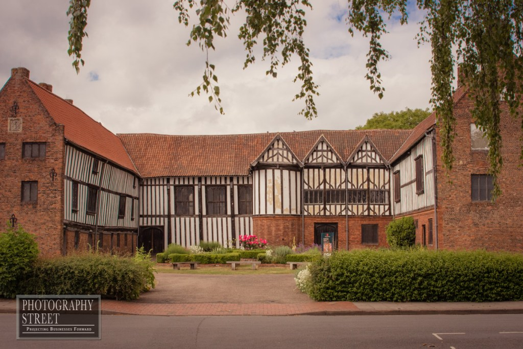 Gainsborough Old Hall from the south showing all three ranges arranged in a 'U'Shape.