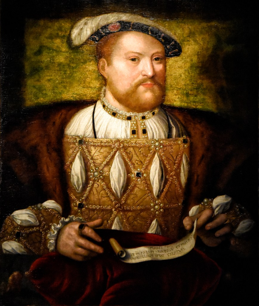 An oil painting of King Henry VIII