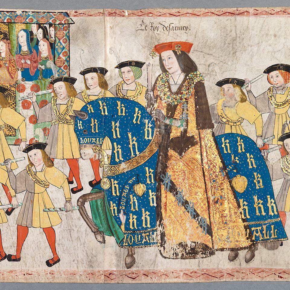 A young Henry VIII on horseback