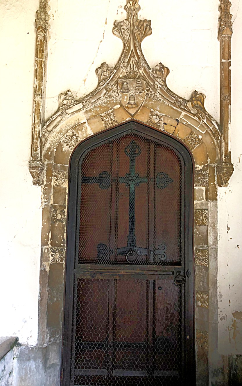 The doorway from the original medieval manor, now in position in the church