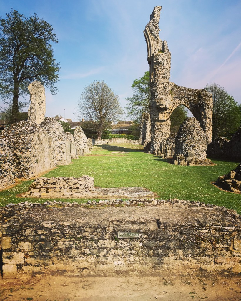 The ruined nave/ chancel of Thetford Priory