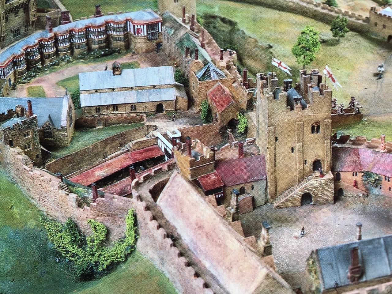 Model of Nottingham castle c.1500