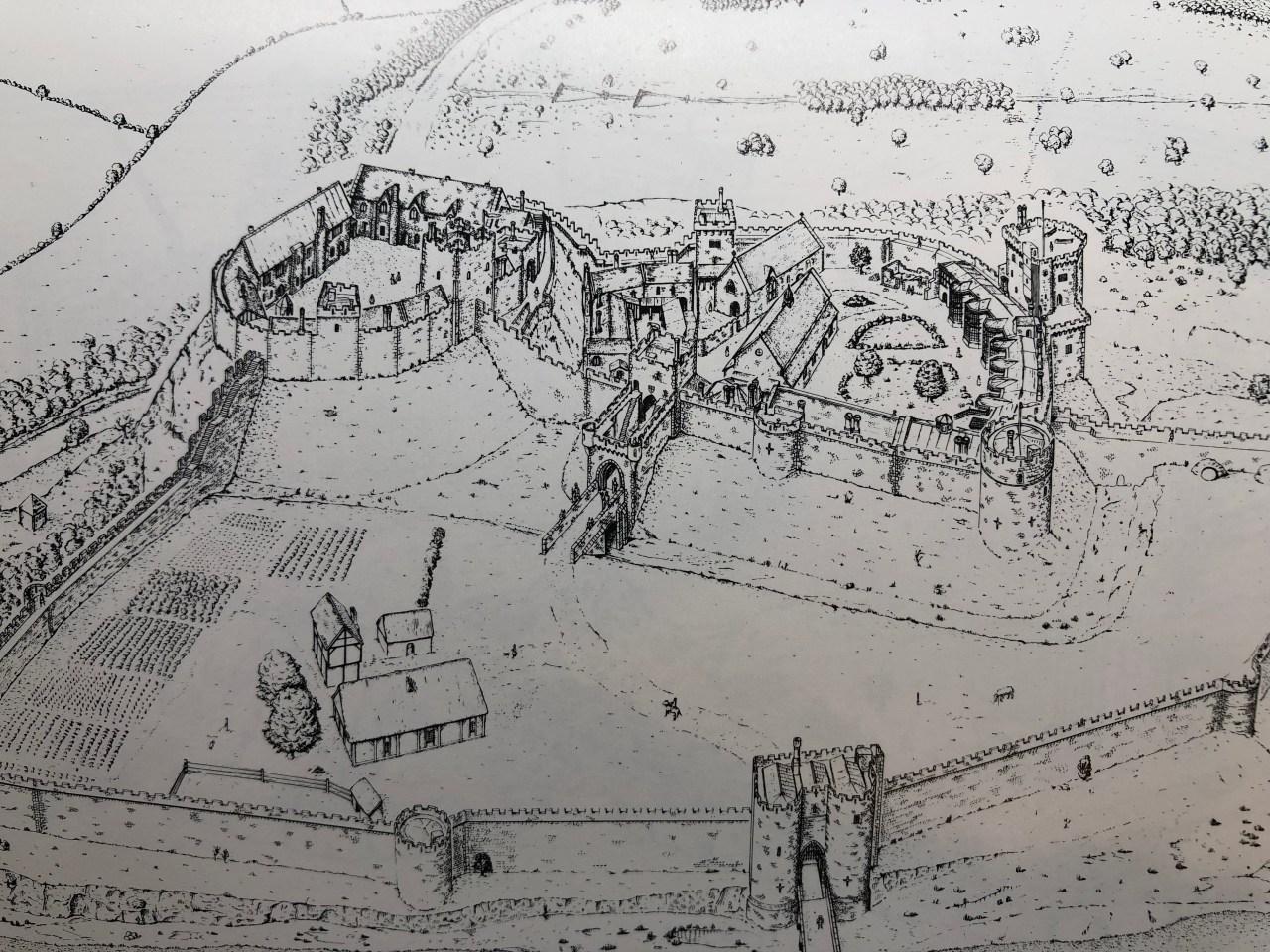 Reconstruction of Nottingham Castle circa 1500