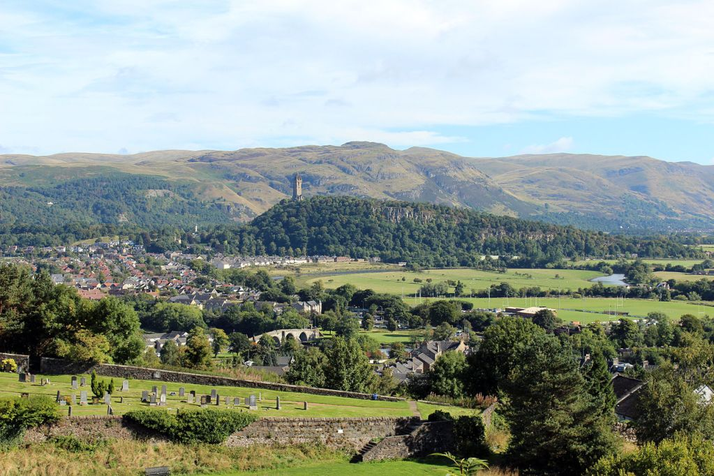 View of countryside from Stirling Castle