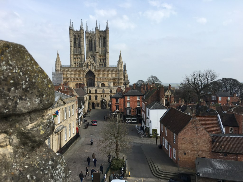 Lincoln Cathedral and Market Place of the Old town