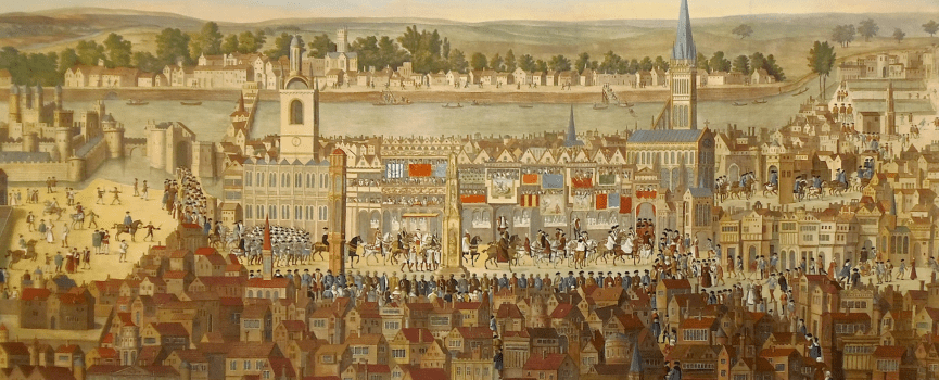 The Coronation of King Edward VI & a View of Cheapside